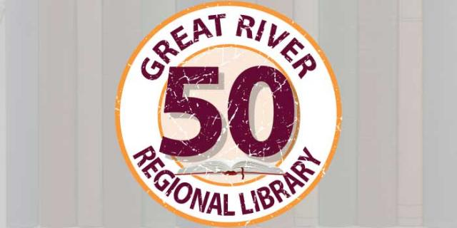 Great River Regional Library 50th Anniversary Logo