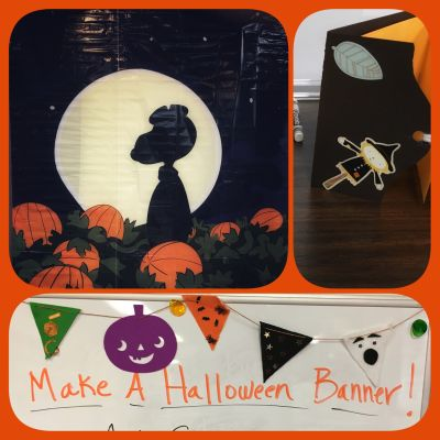 Images of Halloween craft events at Paynesville Public Library