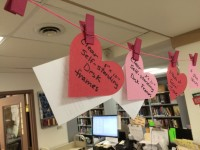 Love Your Library hearts
